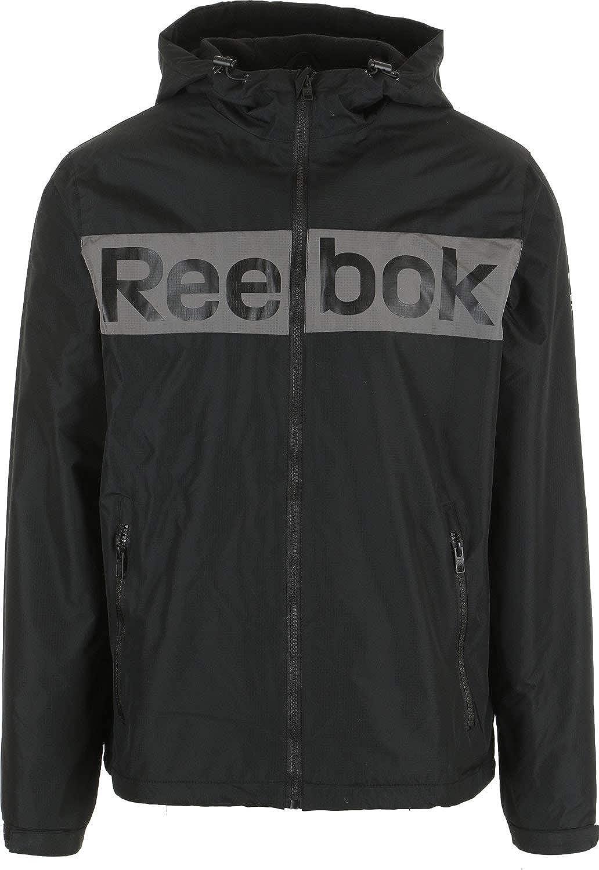 Reebok Logo 2 Fleece Lined Windbreaker Jacket Mens
