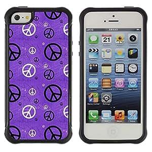 Suave TPU GEL Carcasa Funda Silicona Blando Estuche Caso de protección (para) Apple Iphone 5 / 5S / CECELL Phone case / / Hippie Sign Symbol Peace Wallpaper Art /