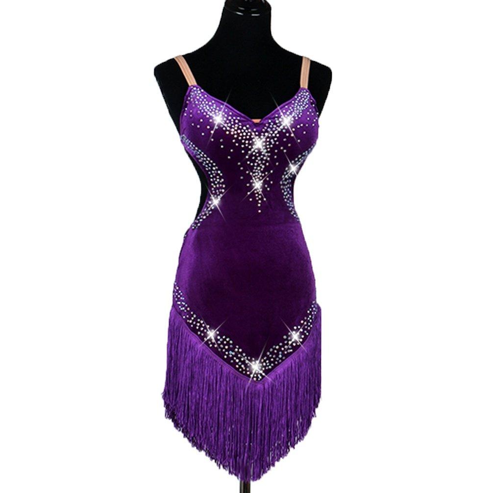 Ärmelloses Lateinischer Tanz Wettkampf kostüm Fransenrock Fransenrock Fransenrock Halter Performance Dance Wear Professioneller Zumba-Tango Tanzanzug B07MPRYQYJ Bekleidung eine große Vielfalt 38e993