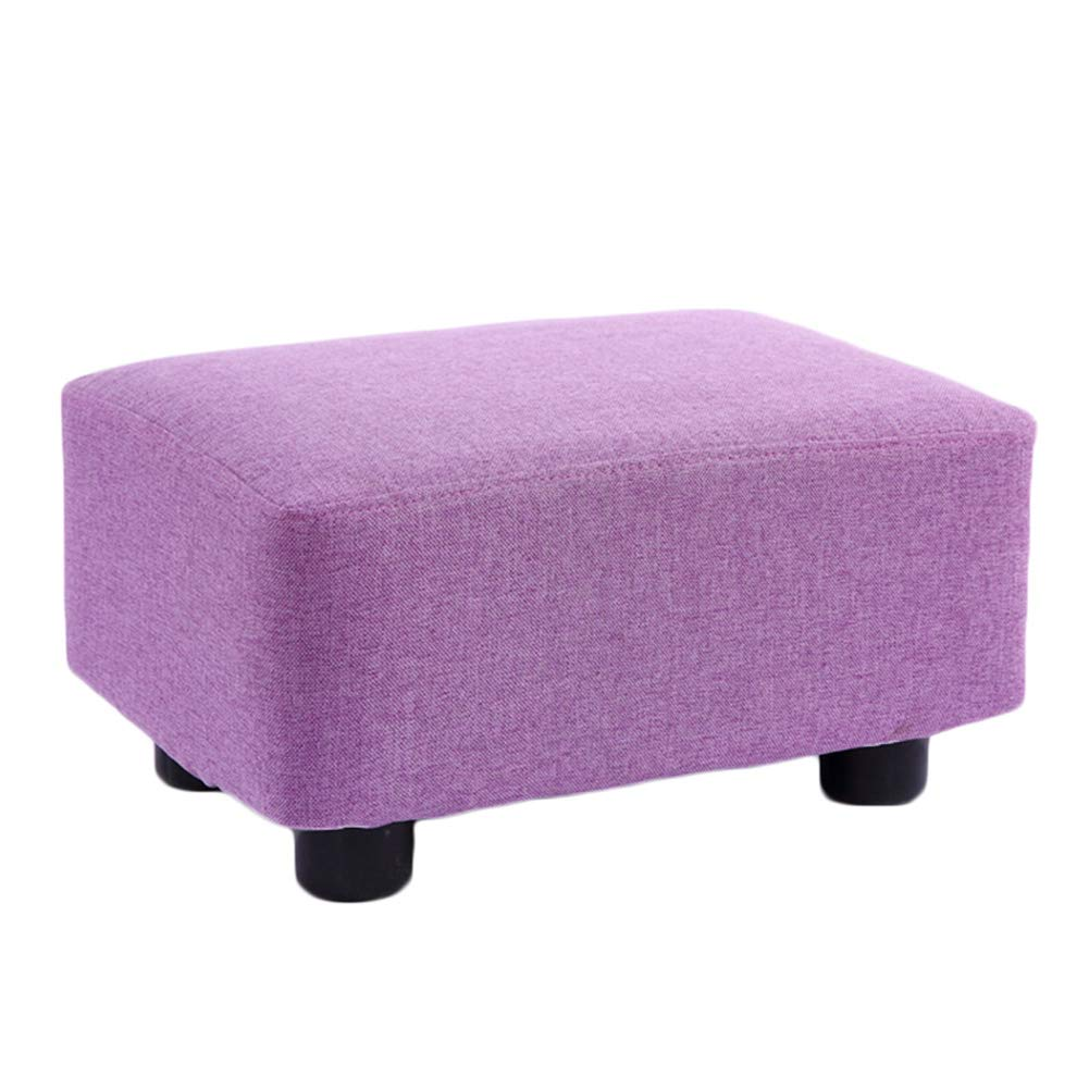 A 38x27x20cm JIANFEI Footstool Solid Wood Stool Legs High Elasticity Sponge mats Wear Resistant Load Bearing 200KG, 10 colors (color   F, Size   38x27x20cm)