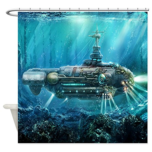 CafePress Steampunk Submarine Decorative Curtain