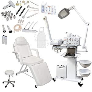 13 in 1 Multifunction Diamond Microdermabrasion Facial Machine Spa Beauty Equipment (w/Stationary Bed)