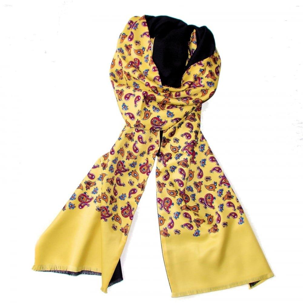 Warrior Clothing Mod Tassled Vintage Moutarde /écharpe Cachemire