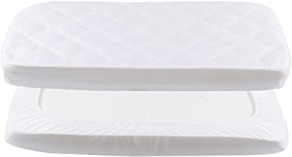 4x Crib 90 X 40 Cm Waterproof Mattress Protector Fitted Sheets