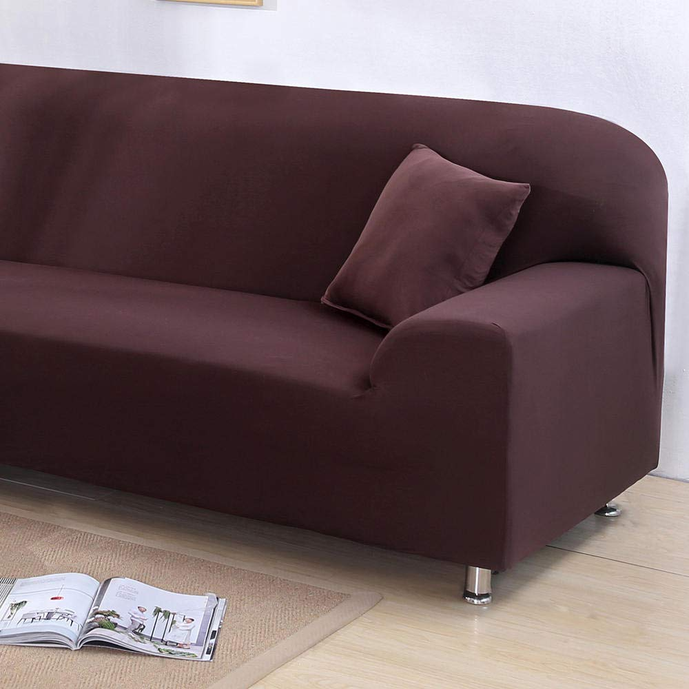 Fundas De Sofas Chaise Longue Solid Color Tight Wrap Sofa ...