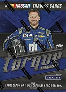 2016 Panini Torque NASCAR Series Factory Sealed Blaster Box of Packs with One Autographed or Driver Worn Memorabilia or Tire Swatch Card Per Box from Panini