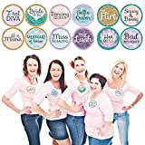 Big Dot of Happiness Trading The Tail For A Veil - Mermaid Bachelorette Party or Bridal Shower Name Tags - Party Badges Sticker Set of 12