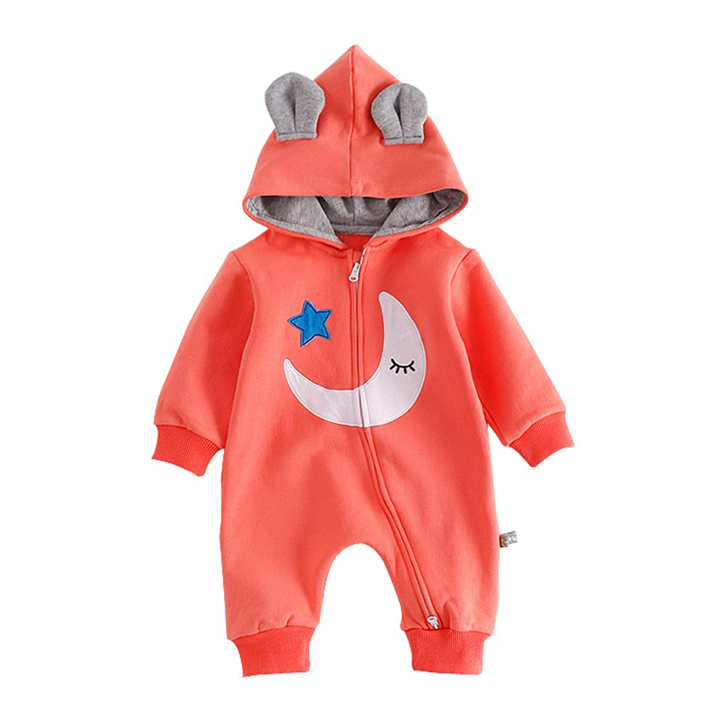 Ding Dong Baby Boy Girl Hooded Moon Star Romper