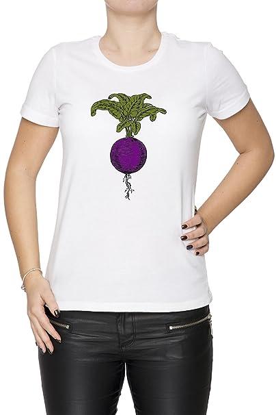 Raíz De Remolacha Mujer Camiseta Cuello Redondo Blanco Manga Corta Tamaño S Womens T-Shirt