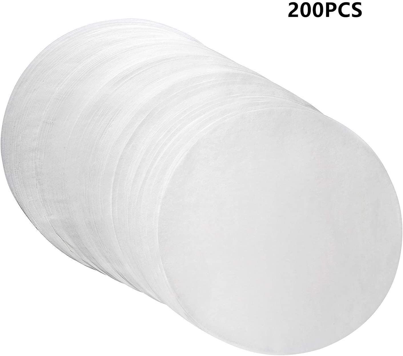 200pcs Parchment Paper Baking Circles 6 Inch Diameter, Baking Paper Liners for Baking Cakes, Cooking, Dutch Oven, Air Fryer, Cheesecakes, Tortilla Press