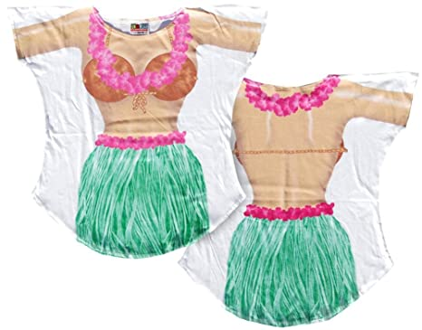 d2c8e2d346 Amazon.com  Hula Girl Bikini Cover up T-shirt Lady s Fun Wear  Clothing