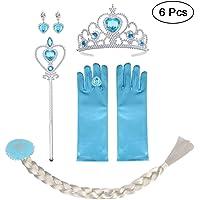 Vicloon Princesa Vestir Accesorios, 6pcs Vestido Elsa Accesorios