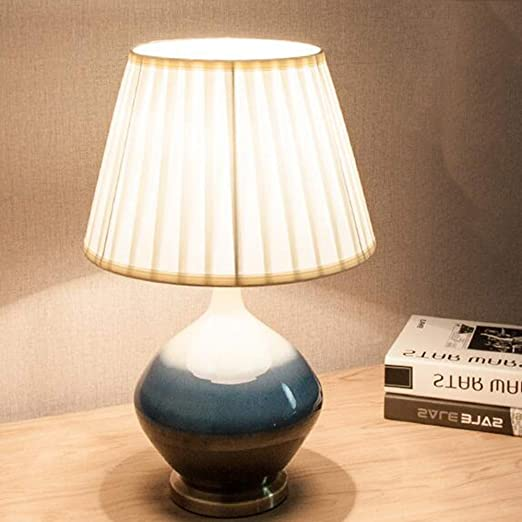 Amazon.com: Ceramic Table Lamp, Retro Bedroom Bedside Table ...
