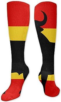 Calcetines deportivos con diseño de bandera de España con el Toro de Osborne: Amazon.es: Salud y cuidado personal