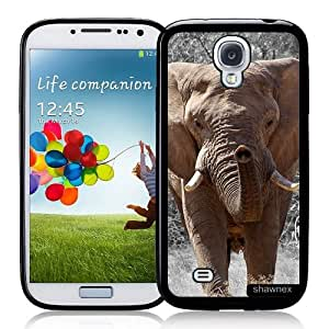 Galaxy S4 Case - S IV Case - Shawnex Elephant African Elephant Face Samsung Galaxy i9500 Case Snap On Case