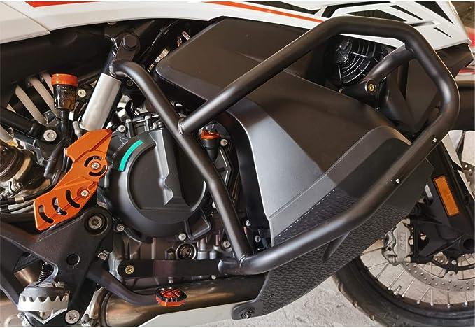 Zubehör Sturzbügel Crash Bars Motorschutz Stoßstange Puffer Highway Rahmenschutz Für K Tm 790 Adventure 2019 2020 790 Adventure S 2019 2020 Schwarz Auto