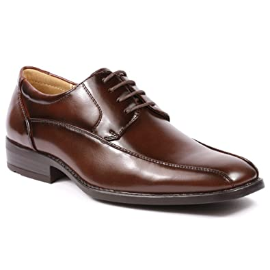 Miko Lotti G5808-1 Men's Wine Brown Lace Up Dress Classic Oxford Shoes 10