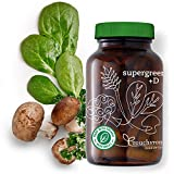 Supergreens +D by Touchstone Essentials, Probiotics, Immune Support, Complete Nutrition, Clean Greens, Non-GMO, 90 capsules