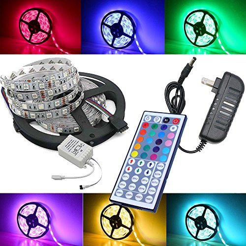 Magic BEAM 5-Meter 16.4 Ft LED Strip Lighting Full Kit 50...