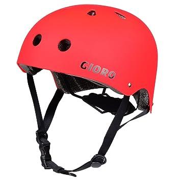 Gioro Skate Casco Ajustable Bicicleta Casco Ciclo/Moto/Skating Casco Deportes Casco