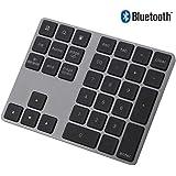 Vbestlife Mini Teclado Numérico Inalámbrico Numpad Bluetooth con 34 Teclas para Apple PC Soporta Sistema Windows