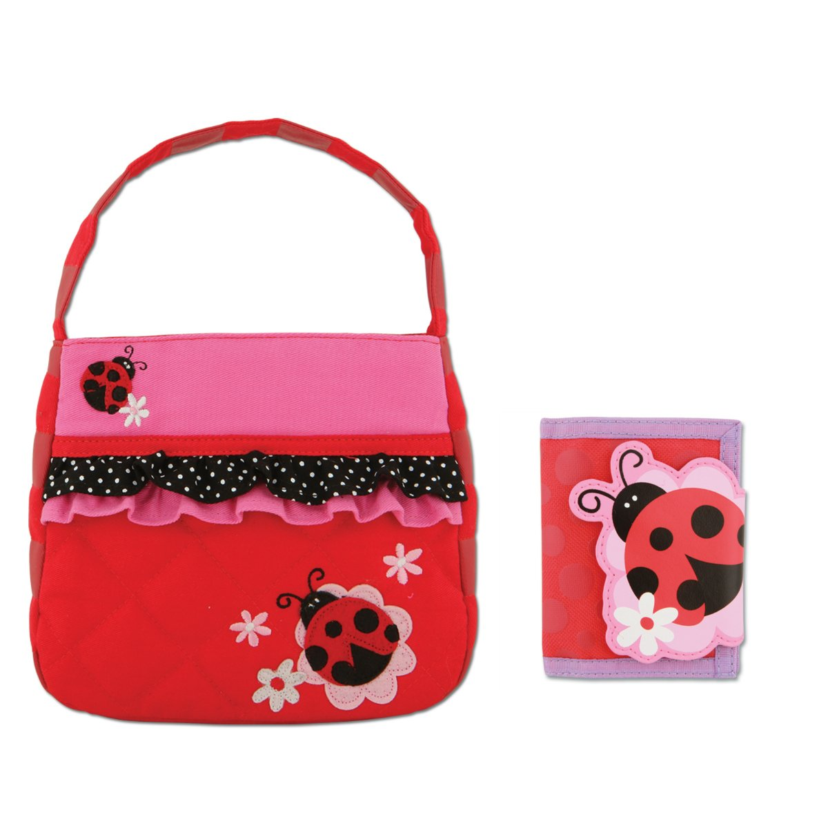 Stephen Joseph Girls Quilted Ladybug Purse and Wallet for Kids