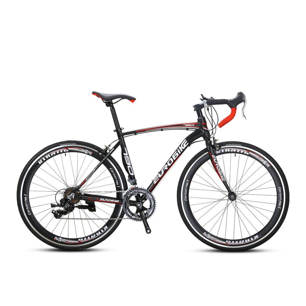 CYRUSHER XC790 ロードバイク自転車 700*28C シマノ 14段変速 AS4.1 Vブレーキ 軽量アルミフレーム B07CQT784M レット レット