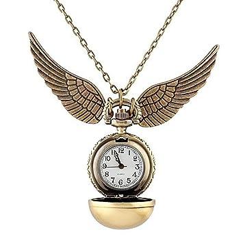 Amazon harry potter golden snitch watch necklace quidditch harry potter golden snitch watch necklace quidditch pocket clock pendant steampu aloadofball Gallery