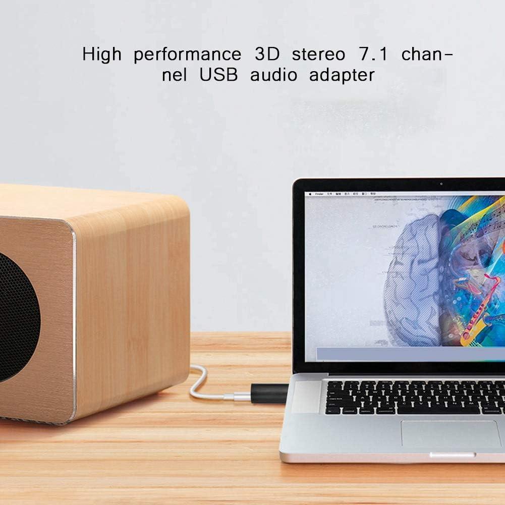 Vista 7.1 Canales Adaptador de Micr/ófono de Tarjeta de Sonido de Audio Est/éreo,3.5mm Altavoz Alto Rendimiento 3D Adaptador de Audio USB Est/éreo para Windows 8//7 XP// OS 8.6,Plug and Play Plata