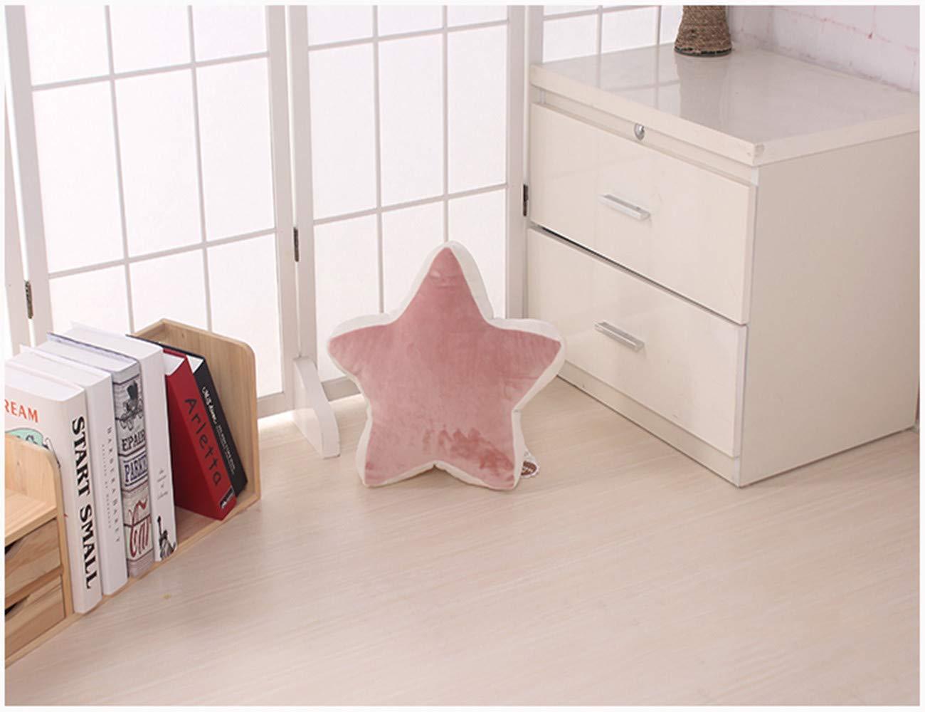 egfsha 36cm Linda Rosa de Cinco Puntas Estrella de Peluche de Juguete Almohada Cama coj/ín Red Rojo