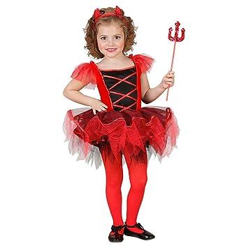 alta qualità altamente elogiato miglior valore NET TOYS Costume da diavoletta ballerina bambina rosso ...