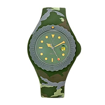 Toy Watch Womens JYA01HG Jelly Army Green Camo Rubber Watch