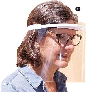 KMINA - Pantalla Protección Facial Transparente (Pack x5 uds.), Pantalla Protectora, Visera Protección Facial, Protector Facial, Visera Protectora con Agarre de Velcro Trasero, Fabricado en España: Amazon.es: Bricolaje y herramientas