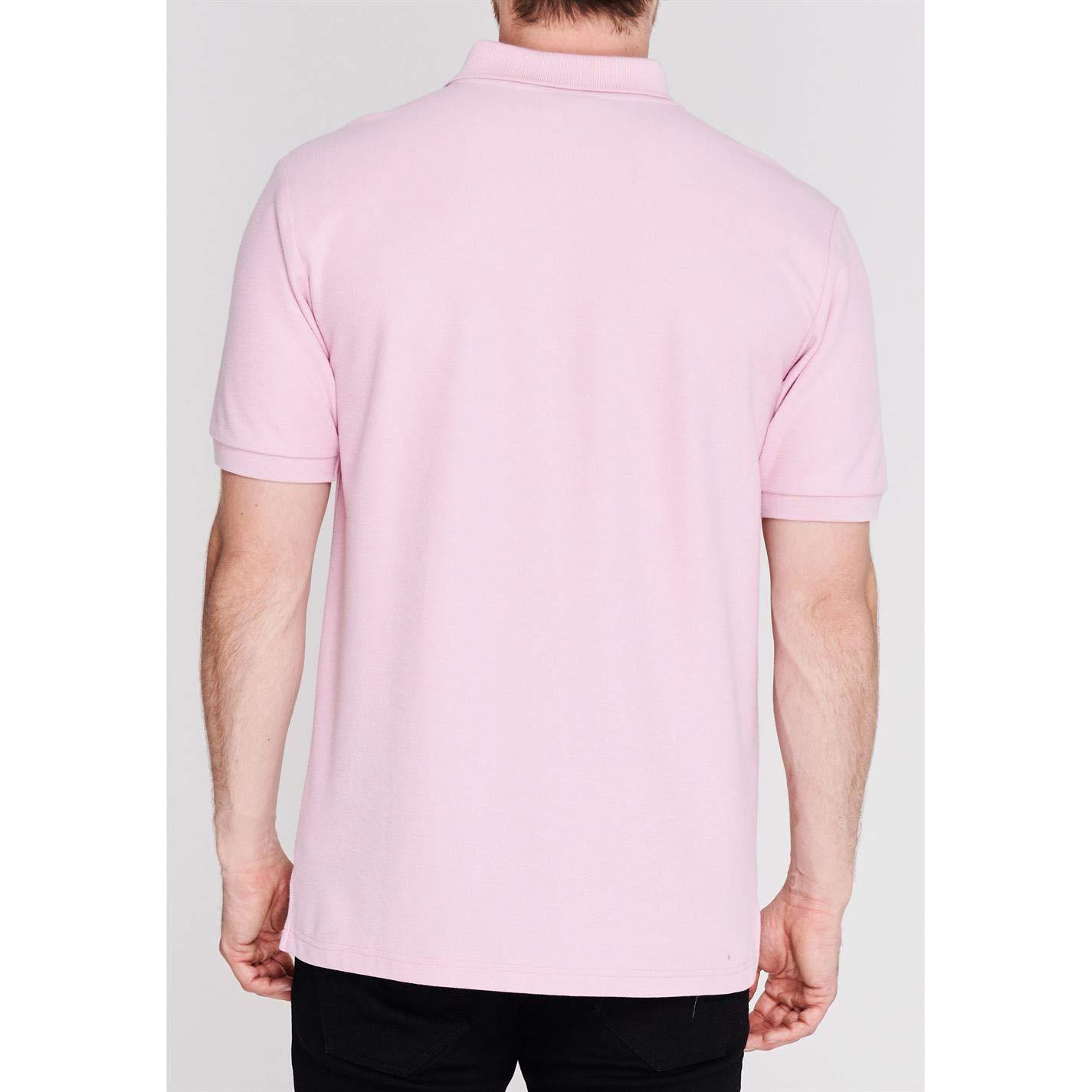 Slazenger Mens Plain Polo Shirt Short Sleeve Top