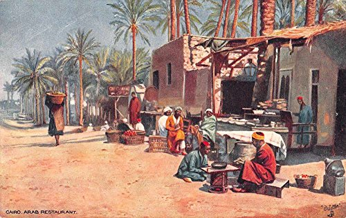 Cairo Egypt view of Arab Restaurant Oilette by Tuck Pub antique pc Z30041