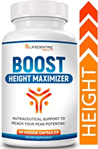 Boost: Height Increase Pills | Grow Taller & Achieve Your Peak Height | Natural Non-GMO Growth Pills for Strong & Healthy Bone Growth | Powerful Pure Growth Factor Plus Fast Relief from Growing Pains