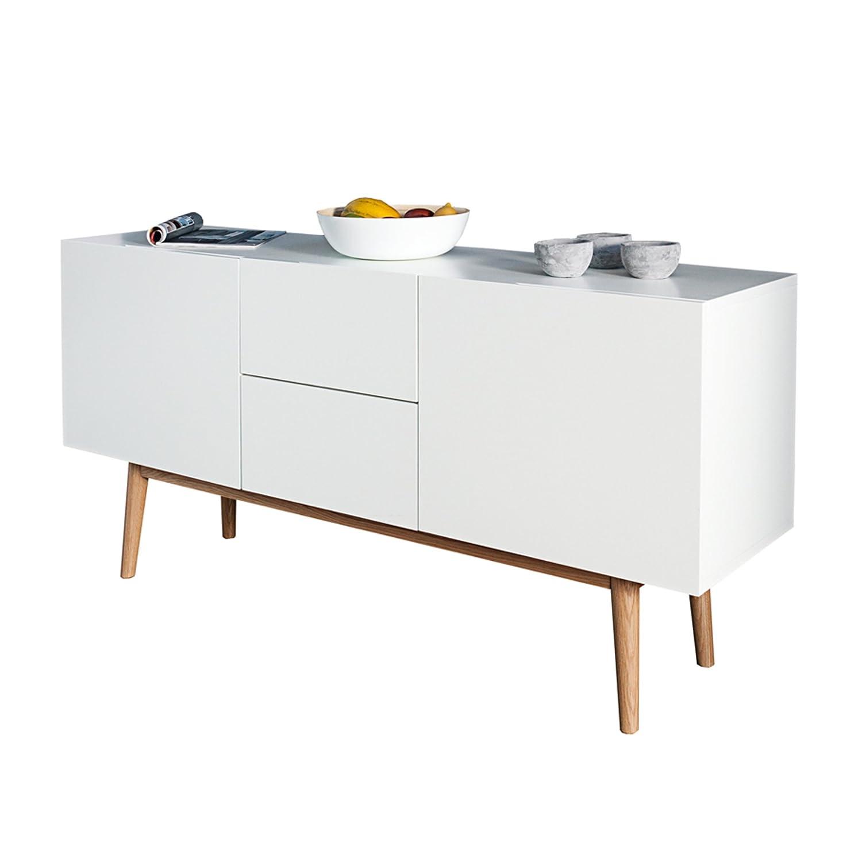 Ansprechend Sideboard Mit Füßen Ideen Von Design Lisboa Weiß 150cm Eiche Füßen Kommode