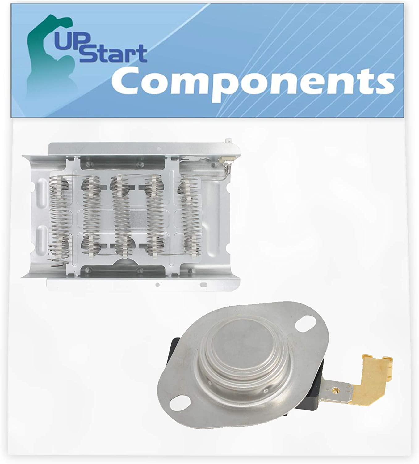 279838 Dryer Heating Element & 3977767 High Limit Thermostat Kit Replacement for Whirlpool SEDX600JQ1 Dryer - Compatible with 279838 and 3977767 Heater Element and Thermostat Combo Pack