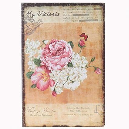 YWHY Cuaderno A5 Flores De Ensueño Floral Cuaderno De Tapa ...