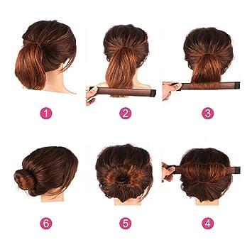 Lictin 8 Haar Bun Hair Bun Diy Haare Bun Tools Bun Clip Werkzeug Brautfrisur Frisur Fashion Styling Mit 10 Haarnadeln
