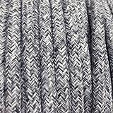 Câble électrique textile - Fil électrique tissu Lin Gris