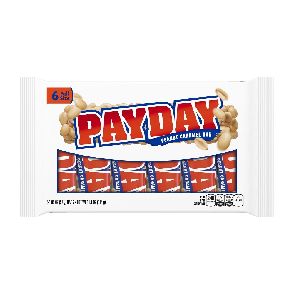 Payday Peanut Caramel Bar (6-Count Bars Pack Of 6) 12