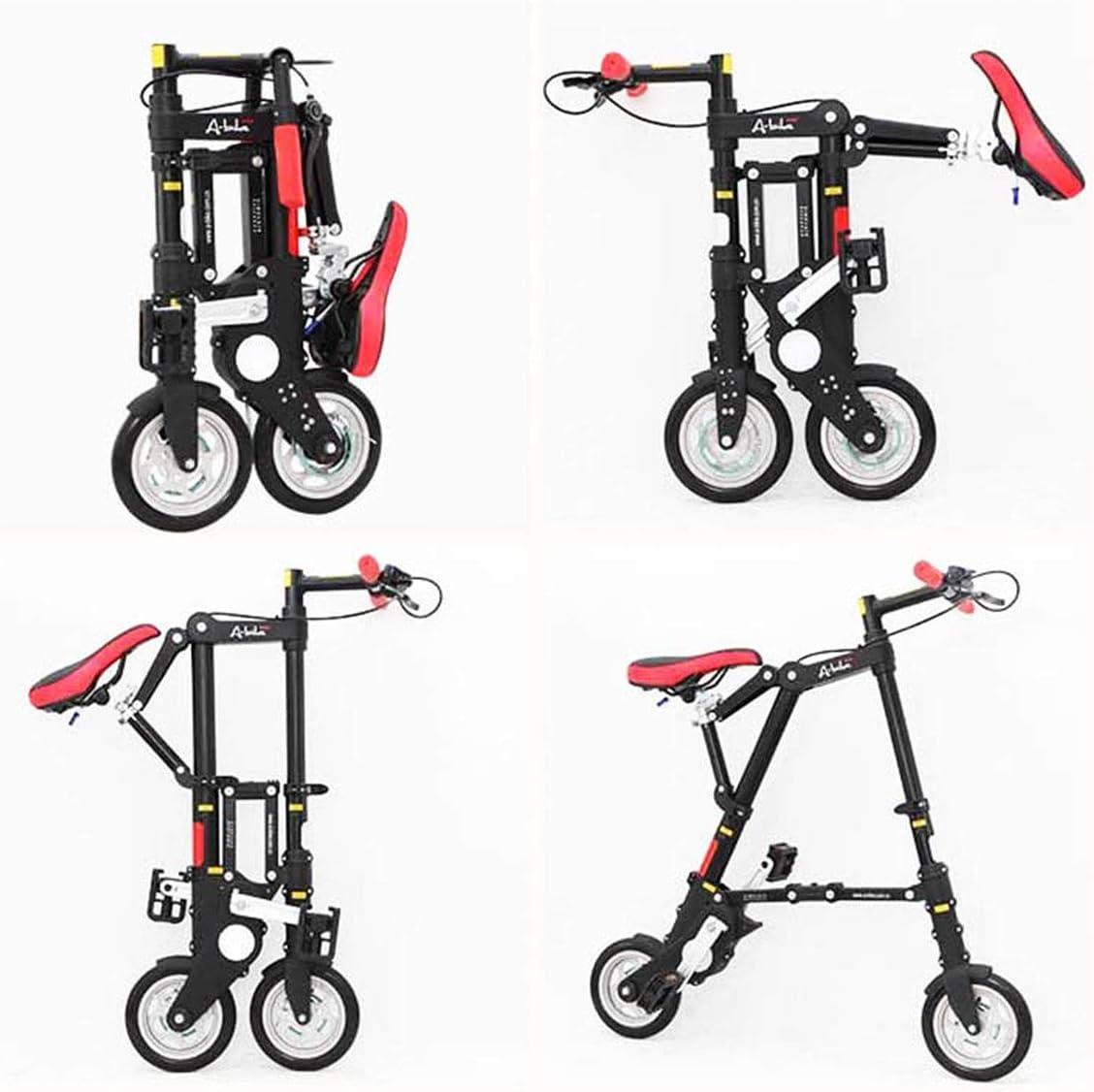 GOHHK Bicicletas Plegables Mini voladoras livianas para Hombres y Mujeres, Cuadro más Resistente aleación Aluminio 8 , Unisex, Bicicleta Viaje Dorada Brillante para Exteriores: Amazon.es: Deportes y aire libre