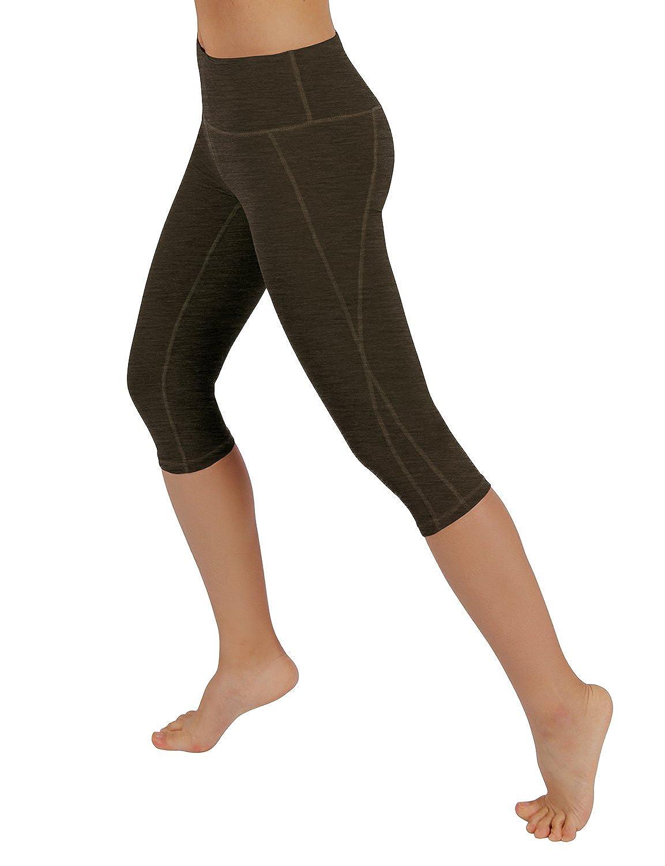 ODODOS Power Flex Yoga Capris Hosen Bauchkontrolle Workout Running 4 Way Stretch Yoga Capris Leggings
