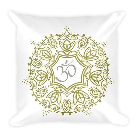 Mandala Om símbolo budismo Buda Yogi Yoga Square Throw almohada ...