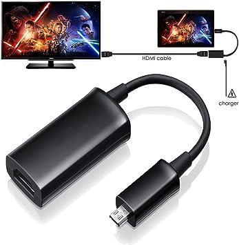 Techgear – Adaptador MHL HDMI para Sony Xperia Z4 Tablet a TV Link – Micro USB macho a