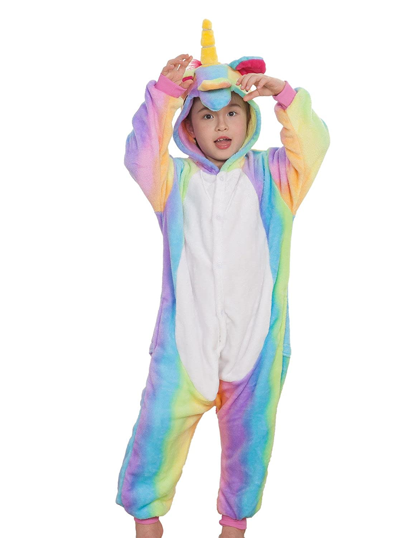 c713d7aaf97a Amazon.com  Kids Unisex Animal Onesies Costumes Halloween Carnival Unicorn  One Piece Pajamas  Clothing