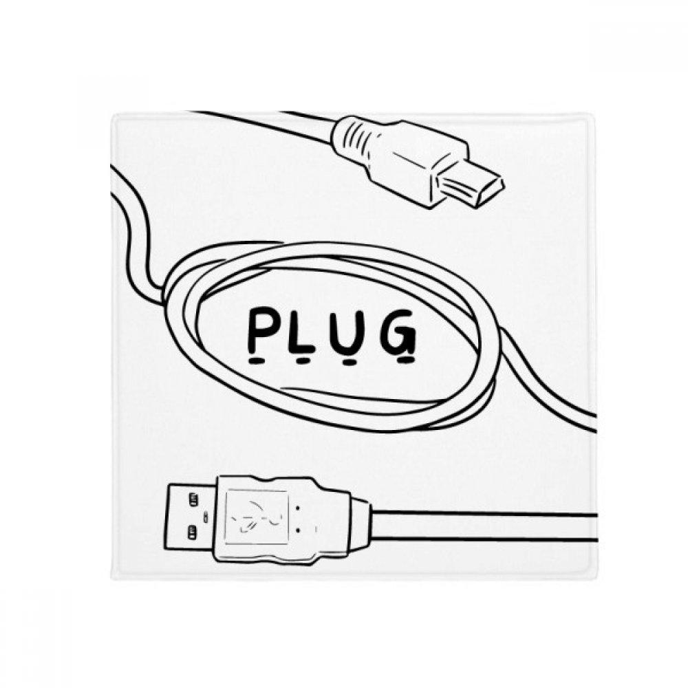 DIYthinker Data Wire USB Plug Line Hand-Drawing Anti-Slip Floor Pet Mat Square Home Kitchen Door 80Cm Gift