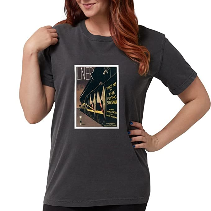 eb3f8be4 Amazon.com: CafePress - Lner Railway Scotland T-Shirt - Womens ...