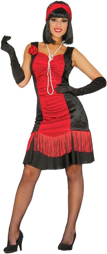 NET TOYS Vestido Charleston Rojo y Negro Traje Mujer años 20 M 38 ...
